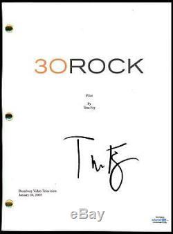 Tina Fey 30 Rock AUTOGRAPH Signed Full Pilot Episode TV Script ACOA