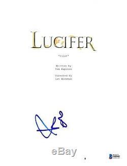 Tom Ellis Signed Lucifer Pilot Episode Script Beckett Bas Autograph Auto