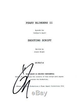 Tom Hardy Signed Autographed PEAKY BLINDERS Series 2 Pilot Script COA