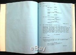 Tony Curtis Signed McCoy Movie 1974 WORKING PILOT SCRIPT Autographed by Curtis