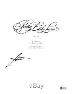 Troian Bellisario Signed Pretty Little Liars Pilot Script Beckett Bas Autograph