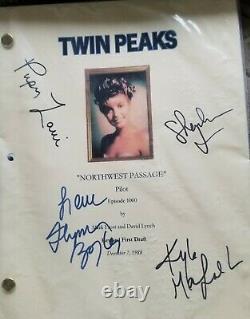 Twin Peaks Hand Signed Script Pilot Boyle, Kyle Maclachlan, Fenn + Laurie
