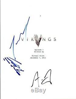 VIKINGS Cast Signed Autographed Pilot Script Travis Fimmel Luwig Standen COA VD