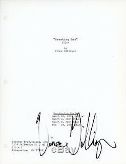 VINCE GILLIGAN Authentic Hand-Signed BREAKING BAD Pilot Episode Full Script