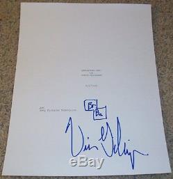 VINCE GILLIGAN SIGNED BREAKING BAD PILOT 58 PAGE SCRIPT withVIDEO PROOF & DRAWING