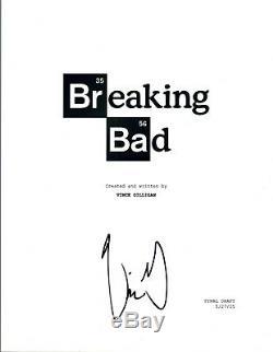 Vince Gilligan Signed Autographed BREAKING BAD Pilot Episode Script COA VD