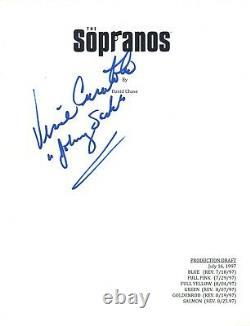 Vincent Curatola Signed Autograph THE SOPRANOS Pilot Script Johnny Sack COA