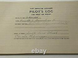 Vtg WWII 1943/44 US Army Air Force Pilot Log Book Named Emmett Barrentine