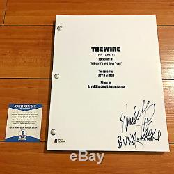WENDELL PIERCE SIGNED THE WIRE FULL 64 PAGE PILOT SCRIPT withPROOF BECKETT BAS COA