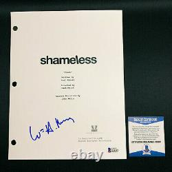 WILLIAM H. MACY SIGNED SHAMELESS FULL PAGE PILOT SCRIPT with BECKETT BAS COA