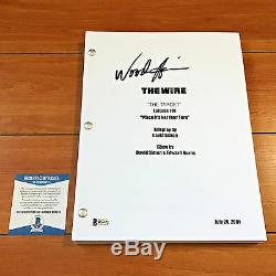 WOOD HARRIS SIGNED THE WIRE FULL 64 PAGE PILOT EPISODE SCRIPT with BECKETT BAS COA