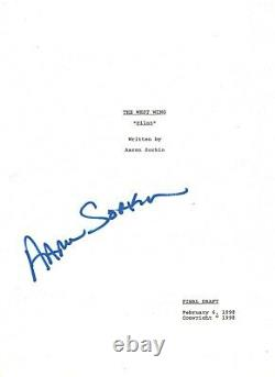 WRITER DIRECTOR AARON SORKIN SIGNED THE WEST WING PILOT EPISODE SCRIPT withCOA