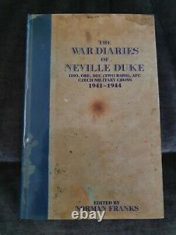 WW2 RAF The War Diaries of Neville Duke Fighter Pilot Signed Book