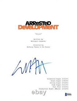 Will Arnett Signed Arrested Development Pilot Script Beckett Bas Autograph Auto
