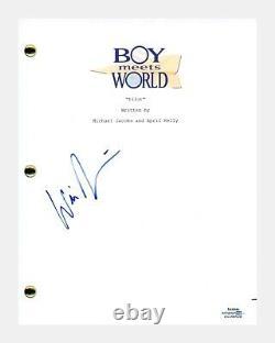Will Friedle Signed Autographed Boy Meets World Pilot Episode Script ACOA COA