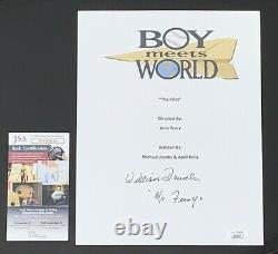 William Daniels Signed Boy Meets World Pilot Script Mr. Feeny Jsa Coa