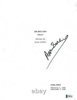 Writer Aaron Sorkin Signed'the West Wing' Pilot Episode Script Beckett Bas Coa