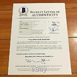 YOUNG SHELDON SIGNED PILOT SCRIPT by 7 CAST IAN ARMITAGE with PROOF & BECKETT COA