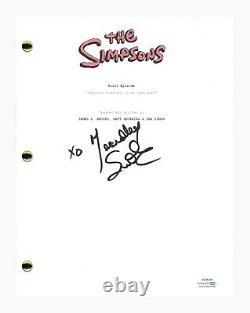 Yeardley Smith Signed Autograph THE SIMPSONS Pilot Episode Script Lisa ACOA COA