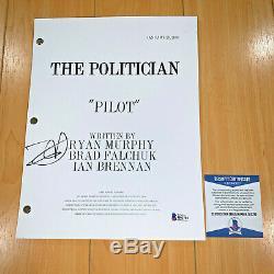 ZOEY DEUTCH SIGNED THE POLITICIAN FULL PILOT SCRIPT with BECKETT BAS COA