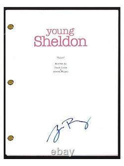 Zoe Perry Signed Autographed YOUNG SHELDON Pilot Episode Script COA